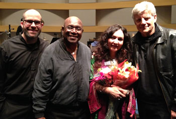Joe Deleault, Mighty Sam McClain, Mahsa Vahdat and Ernest Thompson at The Skirball Cultural Center (courtesy photo)