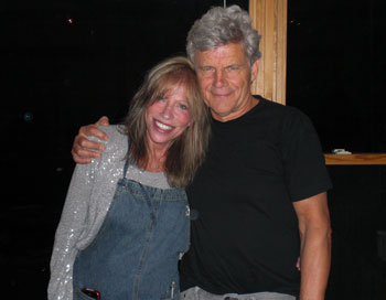 "Ernest Thompson and Carly Simon at the recording of ""The Father Daughter Dance"""