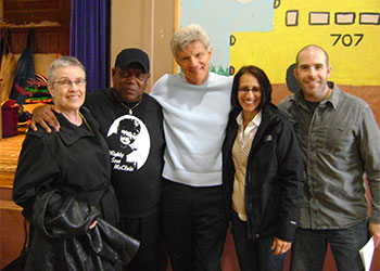 Sandra and Mighty Sam McClain, Ernest and Kerrin Thompson and Joe Deleault on location (courtesy photo)