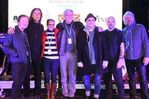 Ernest and Kerrin Thompson with Mik Kaminski, Eric Troyer, Glen Burtnik, Gordon Townsend, and Parthenon Huxley (Members of ELO Part II and Styx)