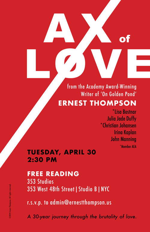 Ax of Love Reading April 30, 2019