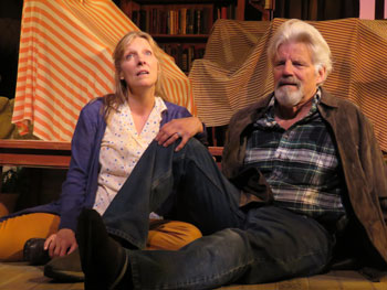 Ernest Thompson and Lisa Bostnar in ON GOLDEN POND at The Winnipesaukee Playhouse